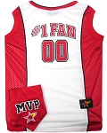 Basketball Pet Jersey and Bandana Combo Red Medium